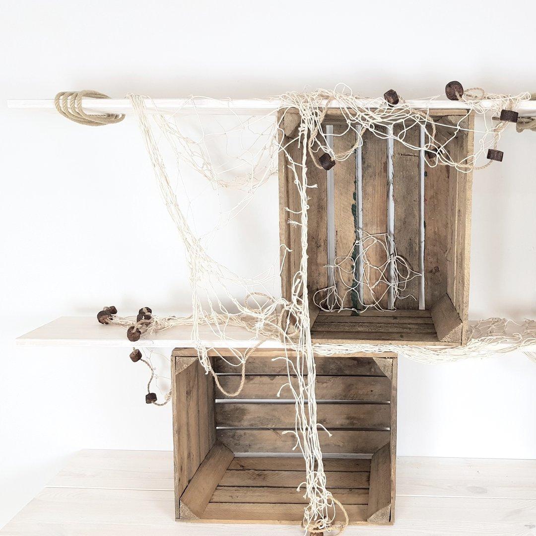 deko fischernetz 150 x 200 cm www nautic. Black Bedroom Furniture Sets. Home Design Ideas
