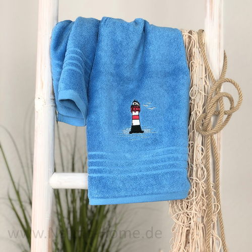 "Maritime Handtuch Serie ""Roter Sand"" blau"