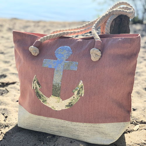 "Strandtasche ""Ebbe"" in rose"